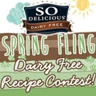 So Delicious Dairy Free Spring Fling Recipe Contest - $1000 Grand Prize!