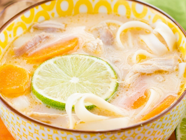 Dairy-Free Savory Recipes: Thai Chicken Noodle Soup