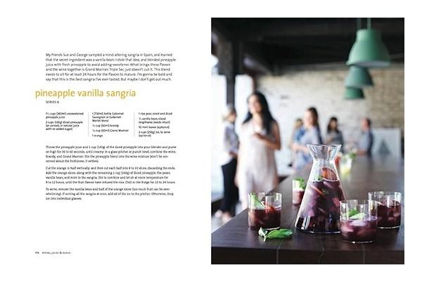 The Blender Girl Cookbook - Pineapple Vanilla Sangria