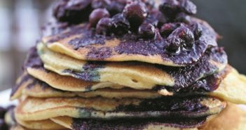 Wild Blueberry Gluten-Free Pancakes Feature