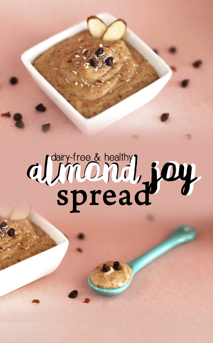 Healthy Almond Joy Spread - Dairy-Free, Gluten-Free, Sugar-Free and Vegan