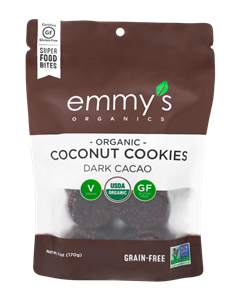 Emmy's Organic Cookies Reviews and Info - Raw, Gluten-Free, Vegan Macaroons in Several Flavors - including dairy-free chocolate covered!