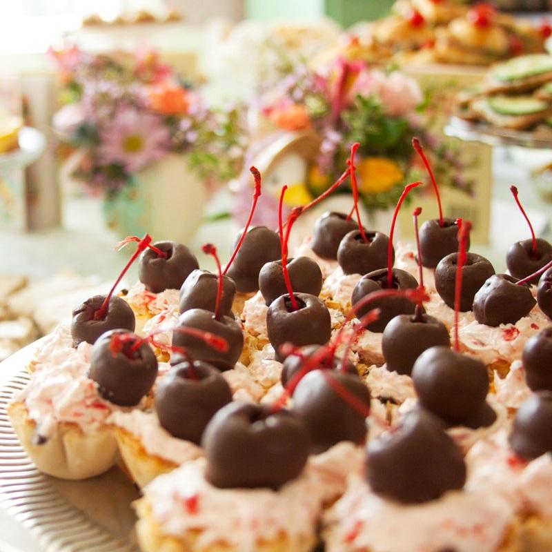 Dairy-Free Chocolate Cherry Cordial Tarts Recipe