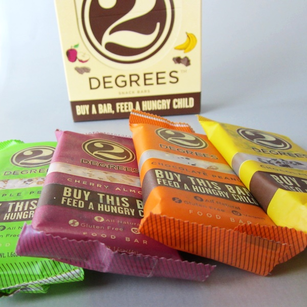 2 Degrees Snack Bars (Vegan, Gluten-Free) - Buy a Bar, Feed a Hungry Child