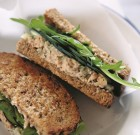 Light Salmon Salad Sandwiches with Dill