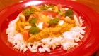 Apple Coconut Curry on Basmati Rice