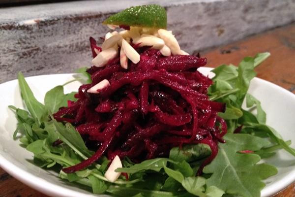 Beet, Fennel and Arugula Salad with Chili Lime Dressing