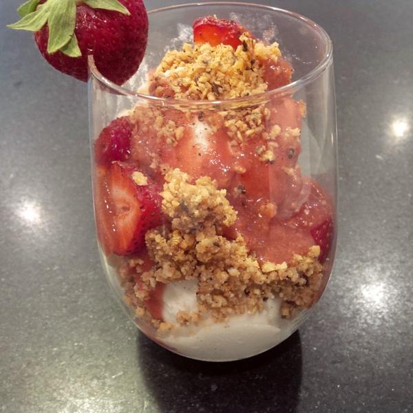 Black Pepper, Balsamic and Fresh Strawberry Ice Cream Parfaits (vegan, dairy-free, gluten-free)