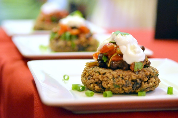 Bob's Red Mill Spar for the Spurtle 2014 Recipe Contest + Steel Cut Oats and Spurtle Giveaway (Black Bean Porridge Patties Recipe Pictured)