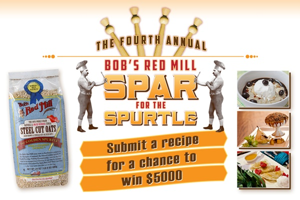 Bob's Red Mill Spar for the Spurtle 2014 Recipe Contest + Steel Cut Oats and Spurtle Giveaway