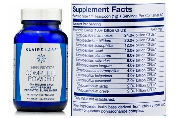 Dairy-Free Supplements - Klaire Labs Ther-Biotic Complete Probiotic Powder