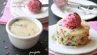 Vanilla Funfetti Mug Cake with Raspberry Ice Cream (Best Single Serve!)