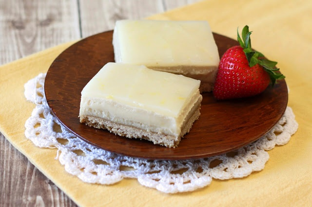Dairy-Free Lemon Cheesecake Bars (gluten-free, vegan, and a contest winner!)