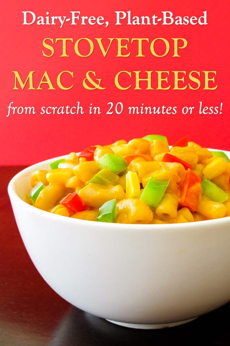 Stovetop Dairy-Free Mac and Cheese Recipe - an easy, plant-based, gluten-free, allergy-friendly dish made with Spicy Southwestern Flavor