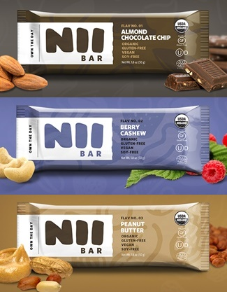Nii Organic Nutrition Bars - Almond Chocolate Chip, Berry Cashew, Peanut Butter