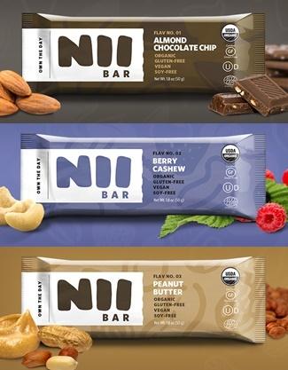 Nii Organic Nutrition Bars - Almond Chocolate Chip, Berry Cashew, Peanut Butter