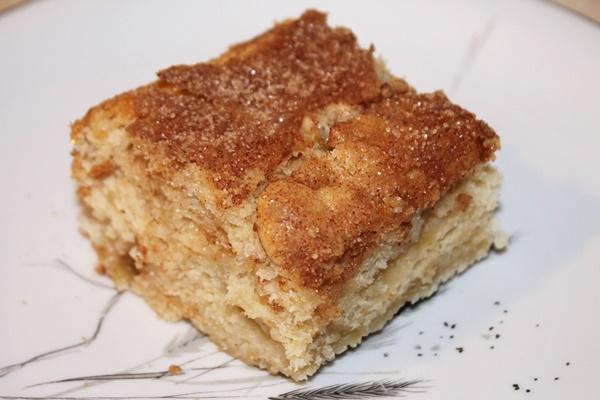 Cinnamon Rhubarb Coffee Cake with Creamy Vanilla Coconut Sauce (Grand Prize Winning Recipe) - #vegan #dairyfree #eggfree #soyfree