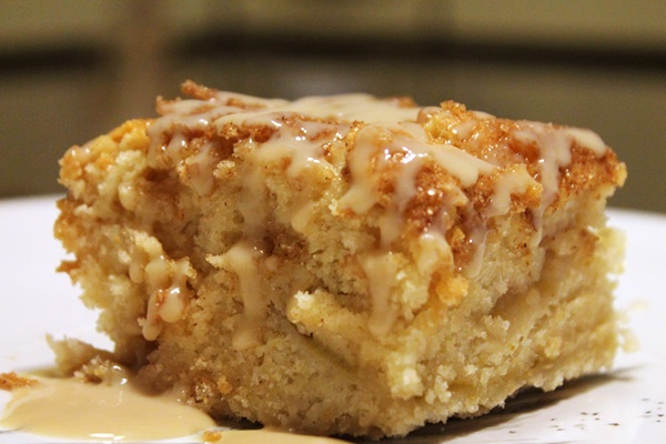 Cinnamon Rhubarb Coffee Cake with Creamy Vanilla Coconut Sauce (Grand Prize Winning Recipe) - #vegan #dairyfree #eggfree #soyfree