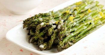 Roasted Asparagus with Lemon Dill Cream Sauce