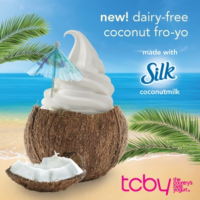 Silk Dairy-Free Coconut Frozen Yogurt at TCBY