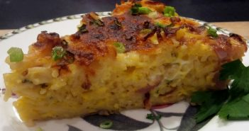 Spring Frittata with Radishes and Scallions