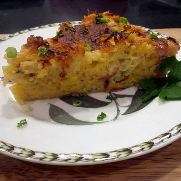 Spring Dairy-Free Frittata with Radishes and Scallions (optionally gluten-free)