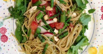 Spring Has Sprung Asparagus Noodle Salad