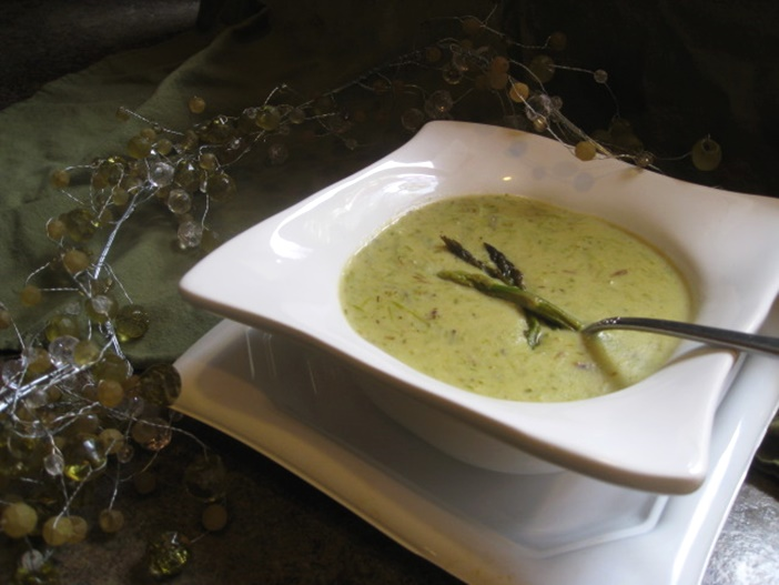 Creamy Roasted Asparagus Soup - a simple dairy-free recipe