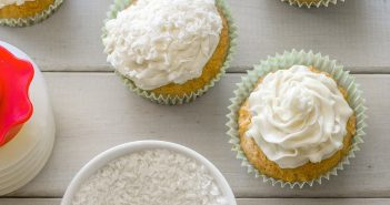 Dreamy Vegan and Dairy-Free Coconut Cupcakes with Coconut Oil Frosting Recipe (also tree nut-free and soy-free)