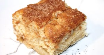 Vegan Cinnamon Rhubarb Coffee Cake with Creamy Dairy-Free Vanilla Coconut Sauce (Grand Prize Winning Recipe)
