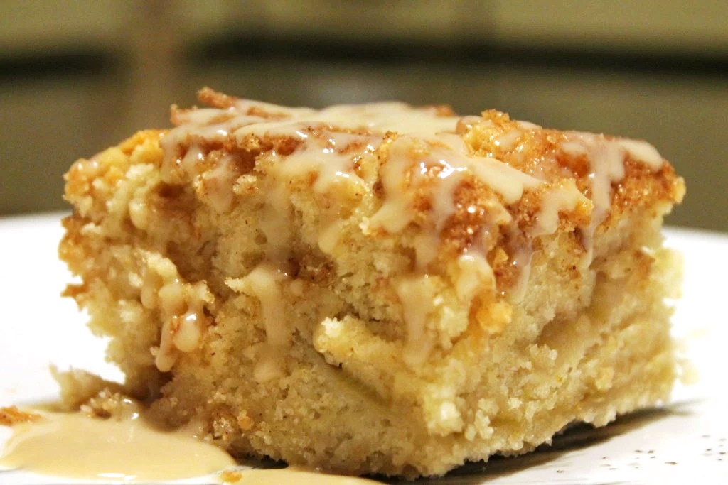 Vegan Cinnamon Rhubarb Coffee Cake with Creamy Dairy-Free Vanilla Coconut Sauce (Grand Prize Winning Recipe)