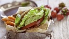 Avocado, Lettuce and Tomato Pitas with Fresh Basil