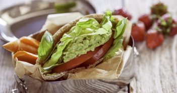 Avocado Lettuce and Tomato Pita Sandwich