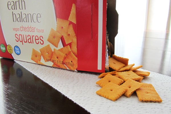Vegan cheddar crackers