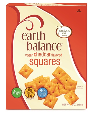 Earth Balance Vegan Cheddar Squares - A dairy-free version of Cheez-it crackers!