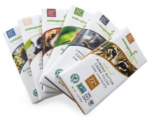 Endangered Species Creme Filled Dark Chocolate Bars - Certified Vegan and Gluten-Free