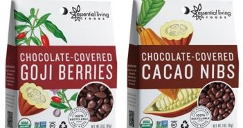 Essential Living Foods Chocolate-Covered Superfoods - Goji Berries and Cacao Nibs (vegan, dairy-free, gluten-free)