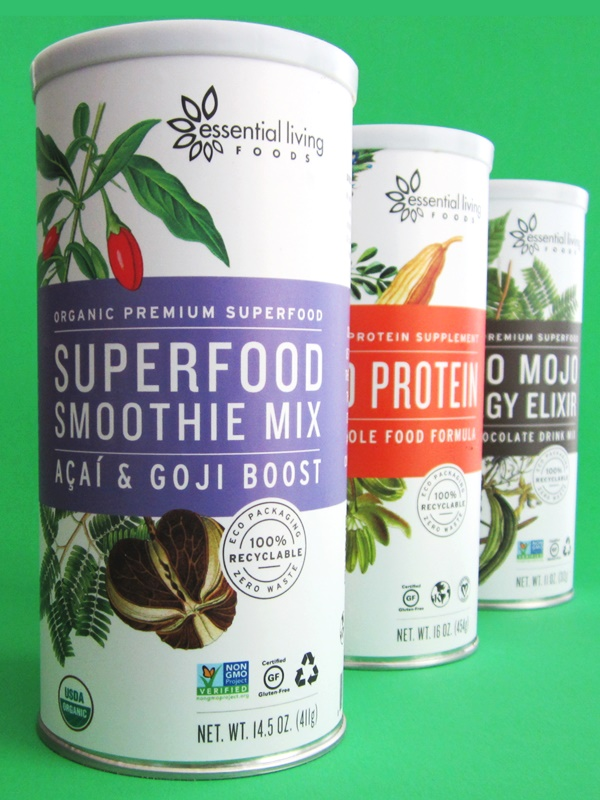 Etonnant Essential Living Foods Superfood Smoothie Mixers: Organic, Raw, Vegan,  Gluten Free