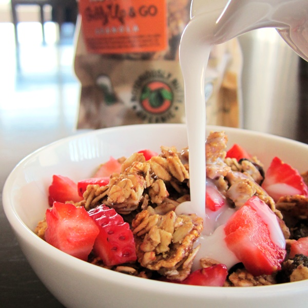 Giddy Up and Go Granola - Notoriously Nutty with Coconut Milk Beverage