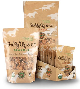 Giddy Up and Go Granola - Organic, Dairy-Free, Gluten-Free, Vegan - Single-Serve, Retail and Bulk Sizes