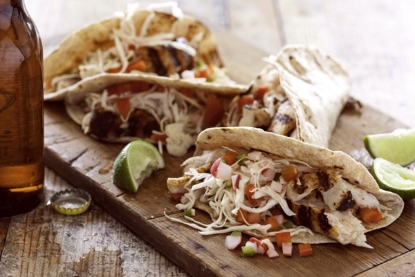 Grilled Fish Tacos with Pickled Vegetables