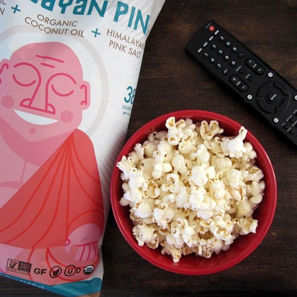 LesserEvil Organic Snacks - Himlayan Pink Sea Salted Buddha Bowl Popcorn