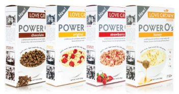 Love Grown Foods Power O's Cereal - Original, Honey, Chocolate, Strawberry
