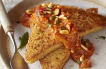 Seared Polenta with Spicy Heirloom Tomato Sauce