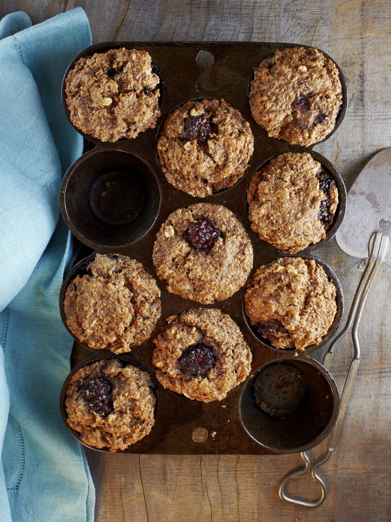 Straight from the Earth Vegan Blackberry Bran Muffins Recipe