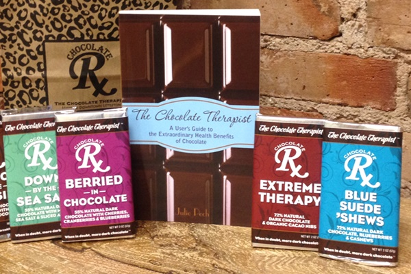 The Chocolate Therapist Dark Chocolate Bars (dairy-free)