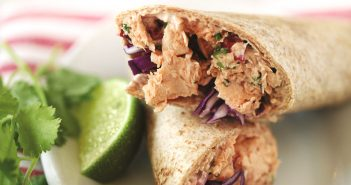 Chipotle Wild Alaskan Salmon Wrap Recipe - dairy-free, optionally gluten-free and healthy