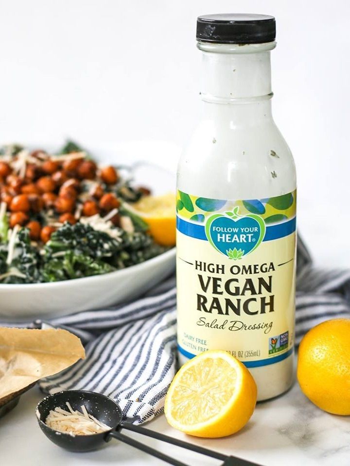 Follow Your Heart Vegan Salad Dressings Reviews and Info - includes creamy dairy-free, egg-free, gluten-free Ranch, Blue Cheese, and Caesar Dressings