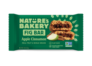 Nature's Bakery Fig Bars Reviews and Info - Dairy-free, nut-free, soy-free, vegan, and made from stone ground whole wheat - real ingredients. Pictured: Apple Cinnamon