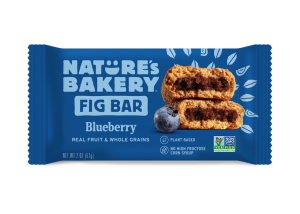 Nature's Bakery Fig Bars Reviews and Info - Dairy-free, nut-free, soy-free, vegan, and made from stone ground whole wheat - real ingredients. Pictured: Blueberry
